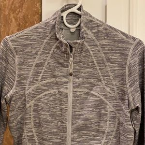 Stripe grey and white jacket